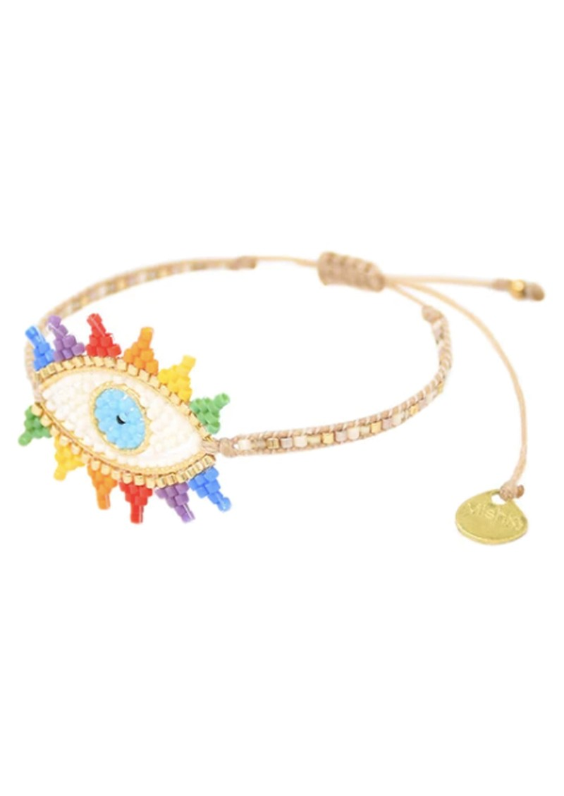 MISHKY Evil Eye Beaded Bracelet - Rainbow main image