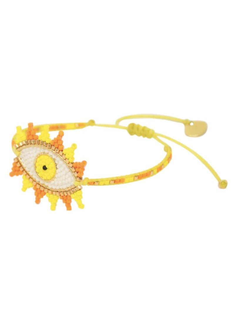 MISHKY Evil Eye Beaded Bracelet - Yellow main image