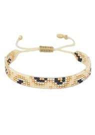 MISHKY Fiore Beaded Bracelet - Cream & Black