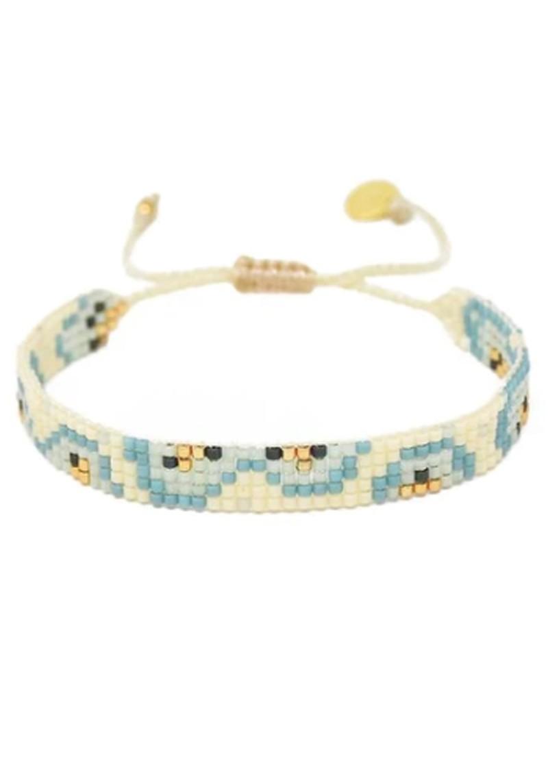 MISHKY Fiore Beaded Bracelet - Blue & Cream main image