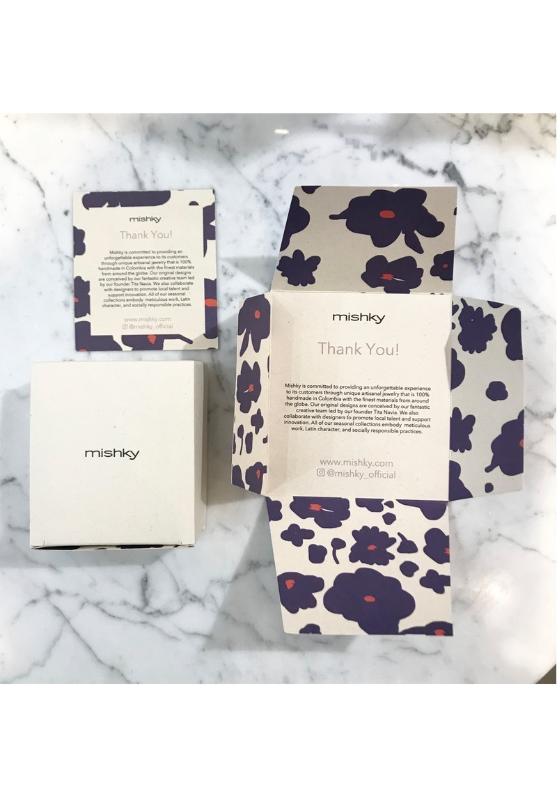 MISHKY Fiore Beaded Bracelet - Cream & Black main image