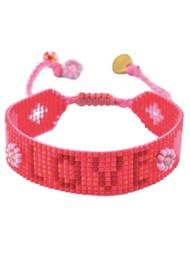 MISHKY Love Beaded Bracelet - Red