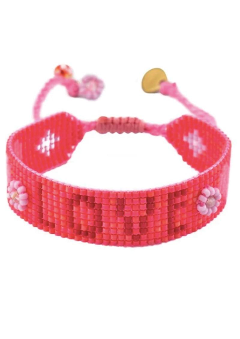MISHKY Love Beaded Bracelet - Red main image