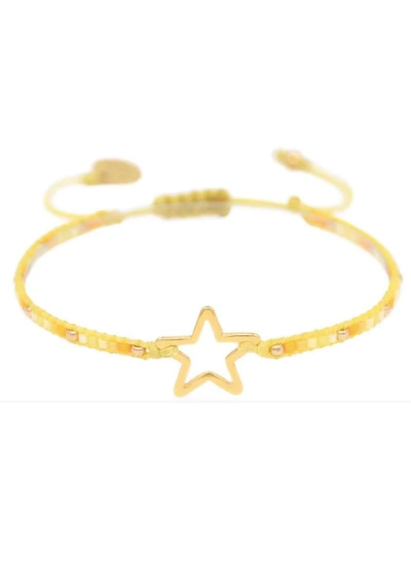 MISHKY Melted Star Beaded Bracelet - Yellow main image