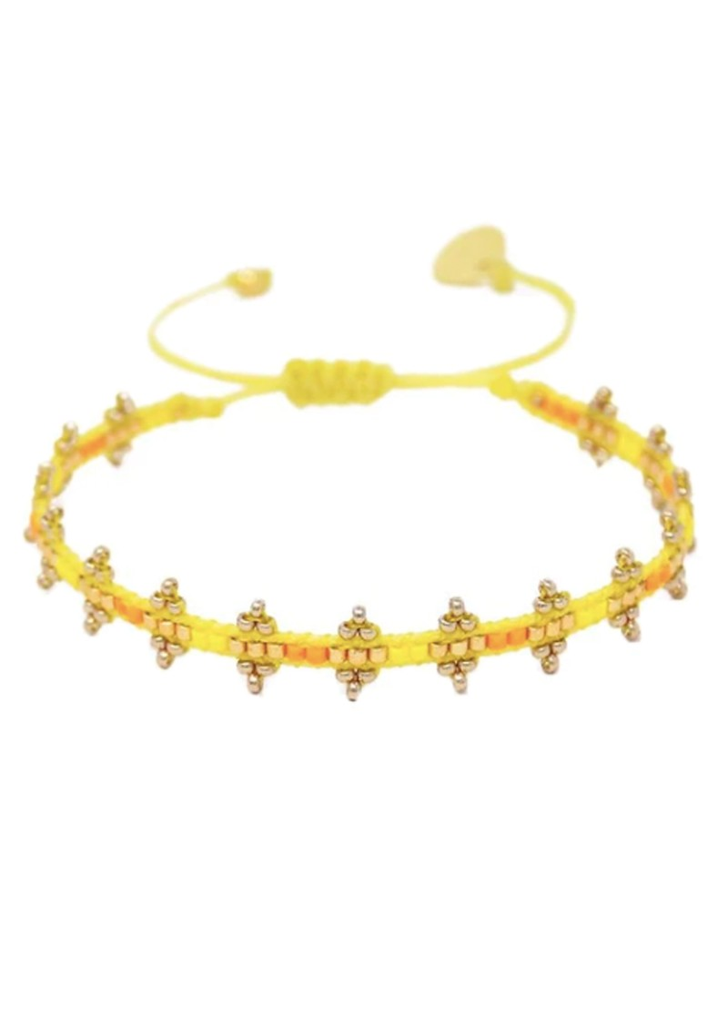 MISHKY Shanty Beaded Bracelet - Yellow main image