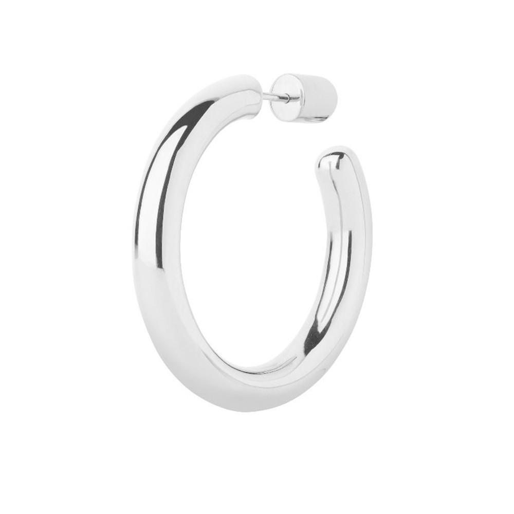Ruby 28 Hoop Earring - Silver