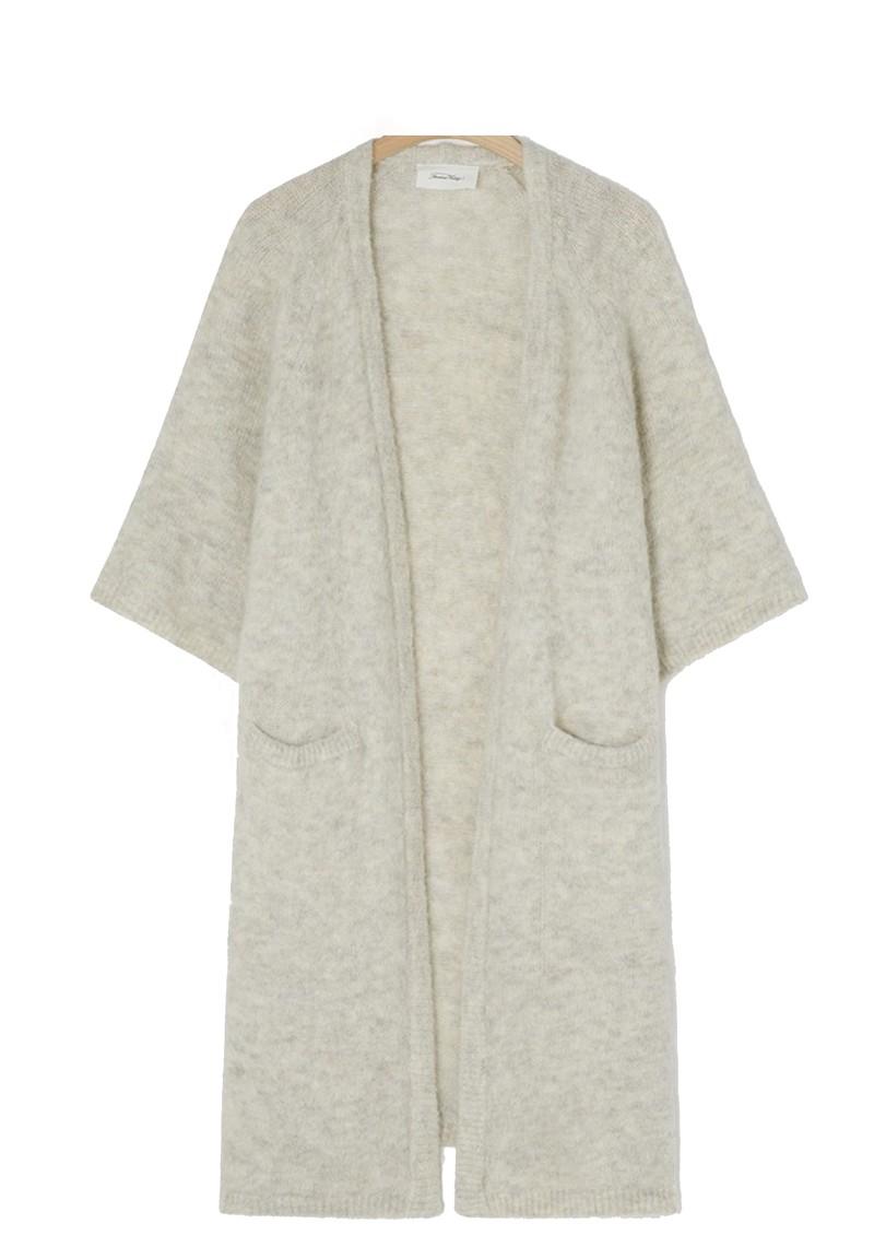 American Vintage East Long Short Sleeve Cardigan - Powder Snow main image