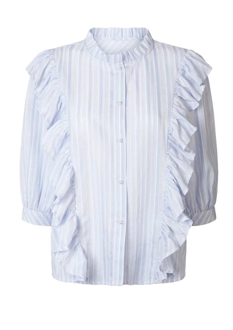 LOLLYS LAUNDRY Hanni Stripe Shirt - Light Blue main image