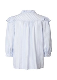 LOLLYS LAUNDRY Hanni Stripe Shirt - Light Blue