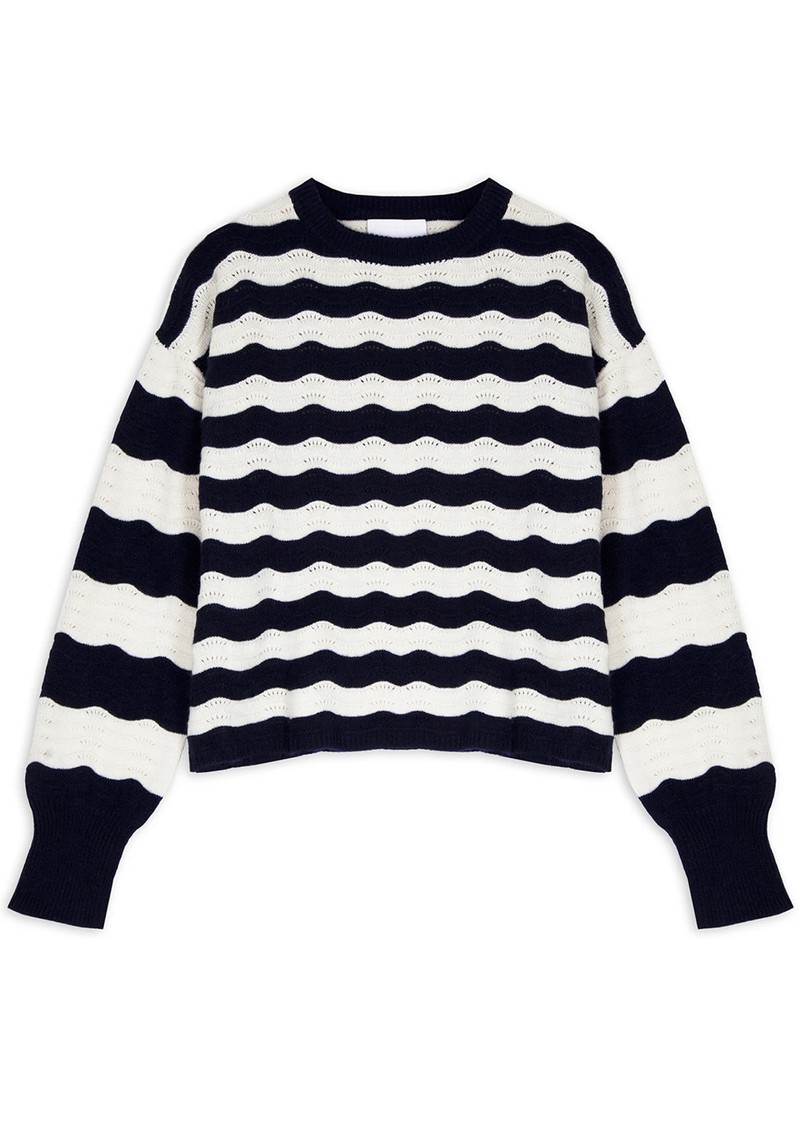 COCOA CASHMERE Aubrey Cashmere Jumper - Navy  main image