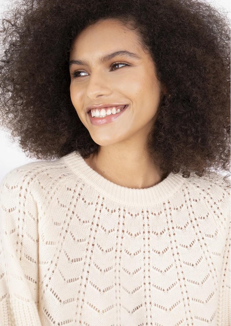 COCOA CASHMERE Layla Cashmere Jumper - Cream main image
