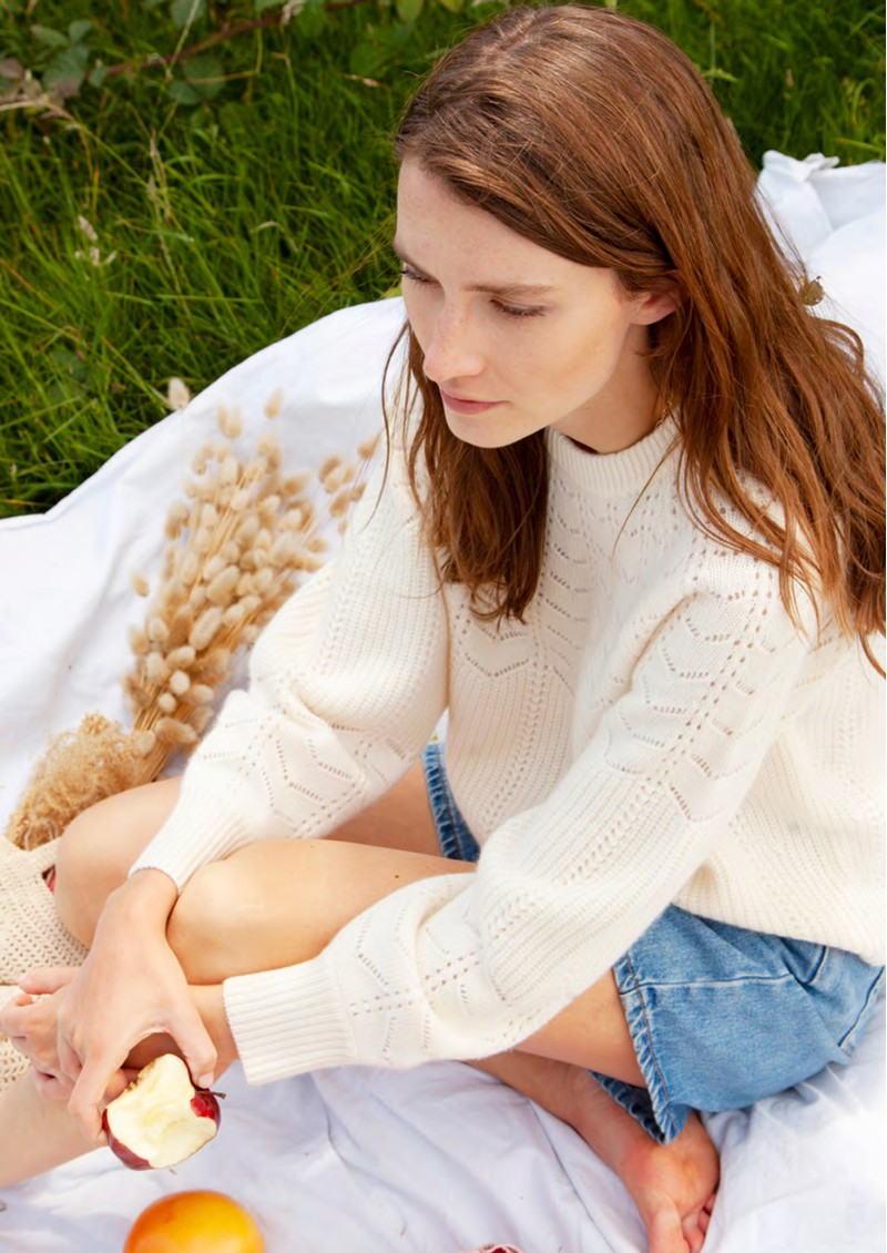 Layla Cashmere Jumper - Cream main image