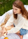 Layla Cashmere Jumper - Cream additional image