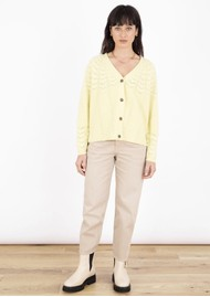 COCOA CASHMERE Winslet Cashmere Cardigan - Vanilla Yellow