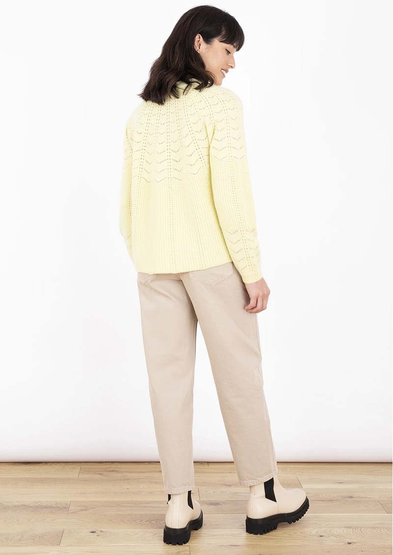 COCOA CASHMERE Winslet Cashmere Cardigan - Vanilla Yellow main image
