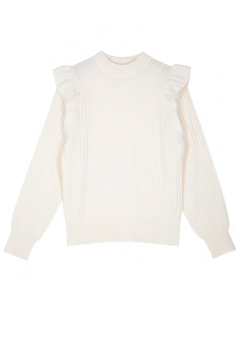 COCOA CASHMERE Orlah Ribbed Cashmere Jumper - Cream main image