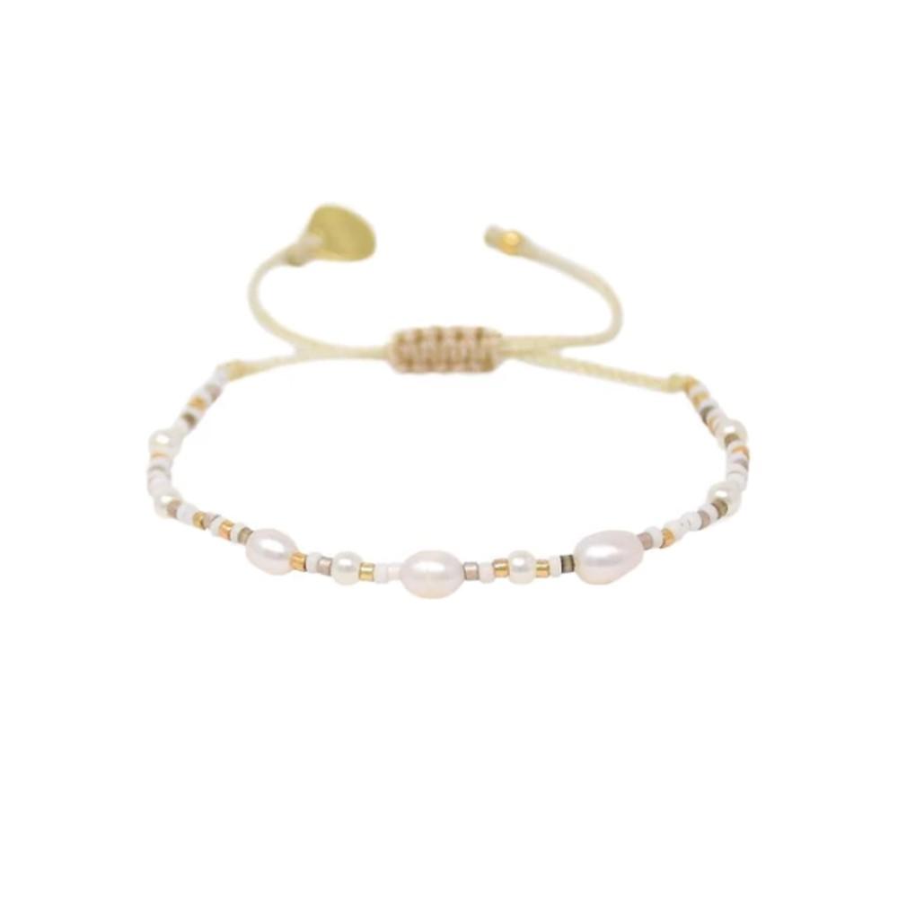 Perlissima Pearl Beaded Bracelet - Gold