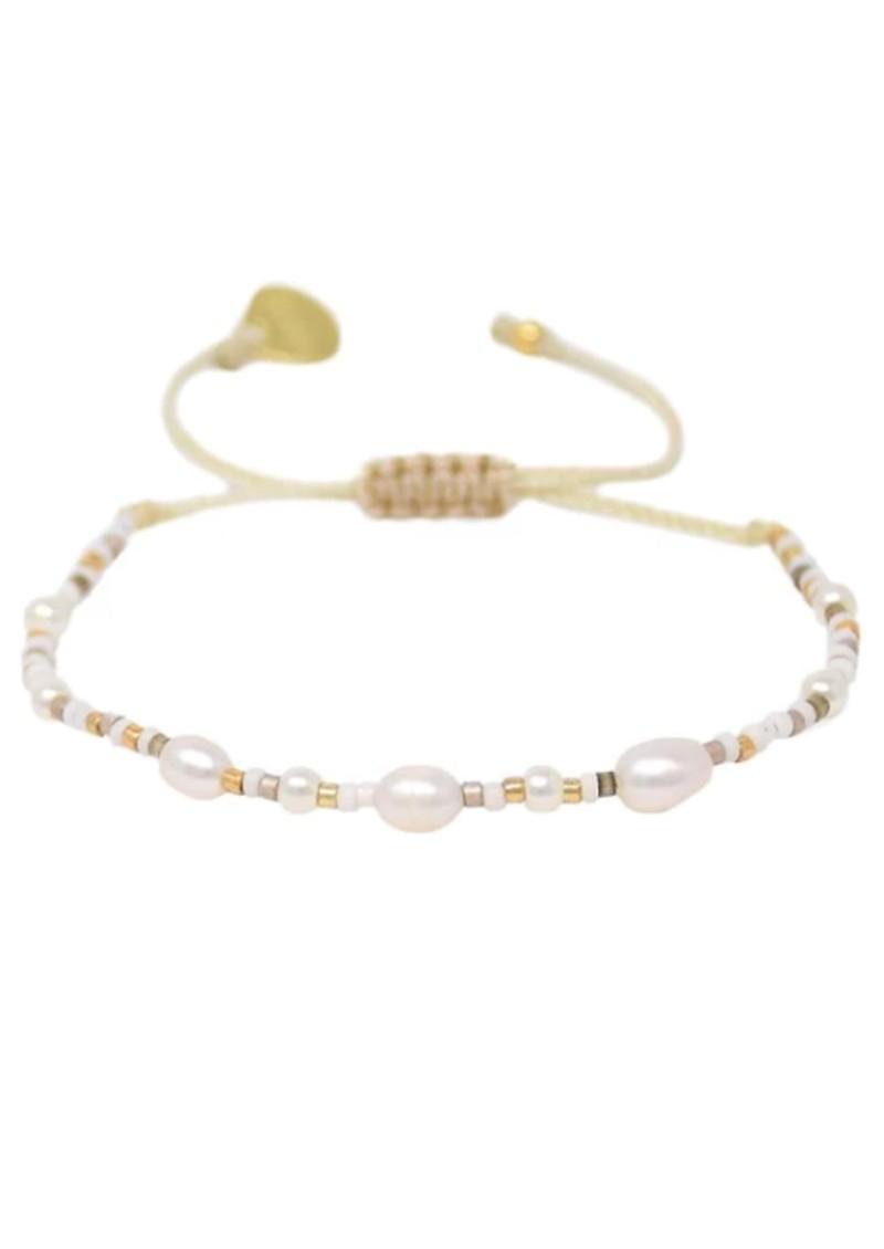 MISHKY Perlissima Pearl Beaded Bracelet - Gold main image