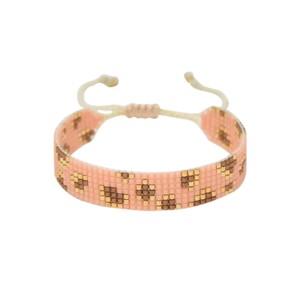 Exclusive Panthera Beaded Bracelet - Pink