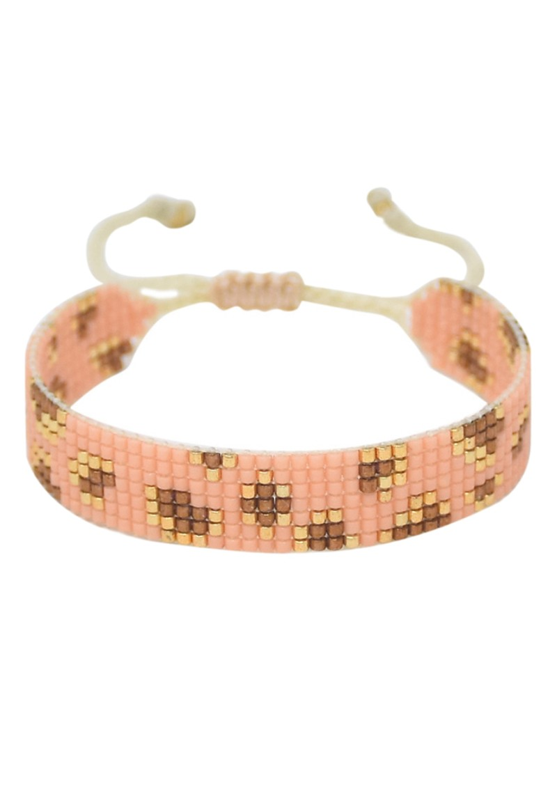 MISHKY Exclusive Panthera Beaded Bracelet - Pink main image