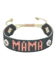 MISHKY UK Exclusive Mama Beaded Bracelet - Slate Grey