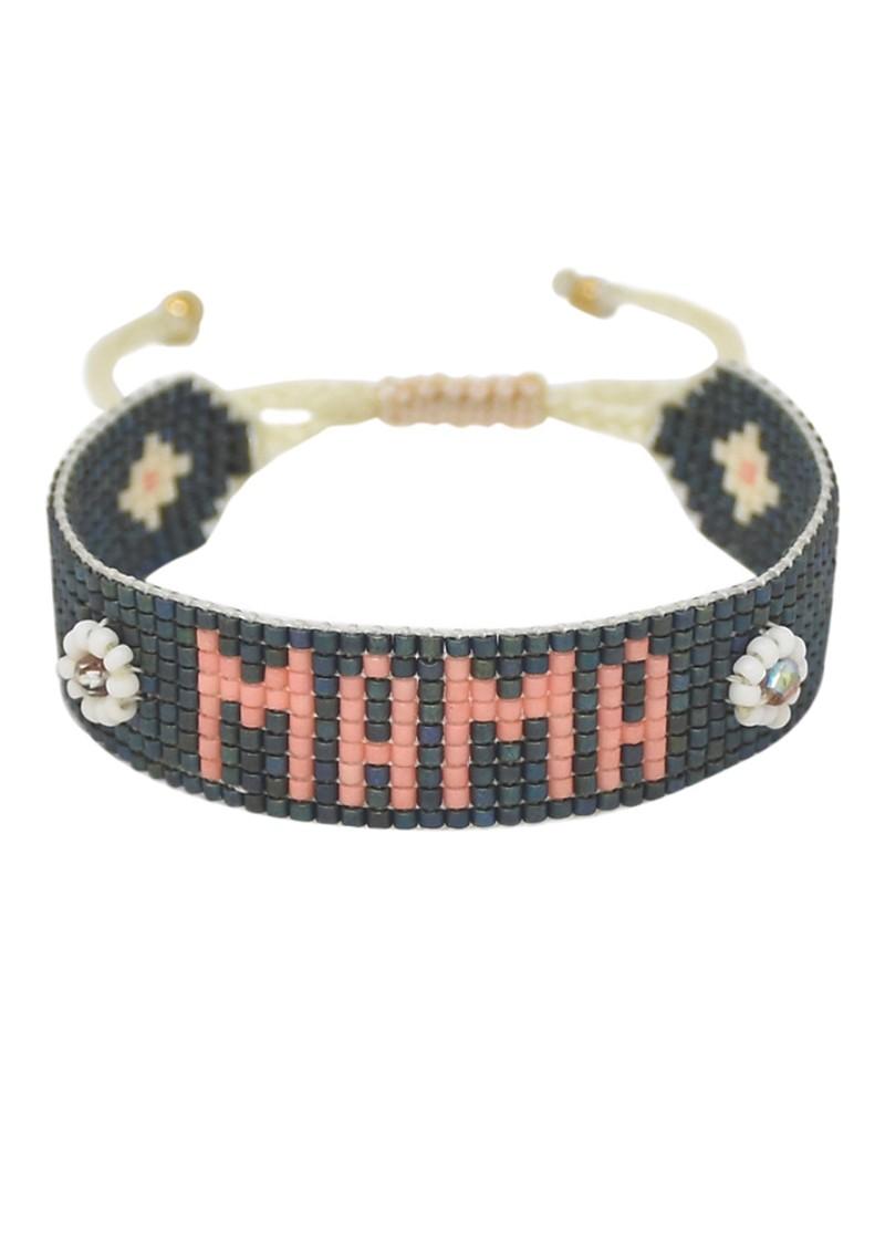 MISHKY UK Exclusive Mama Beaded Bracelet - Slate Grey main image