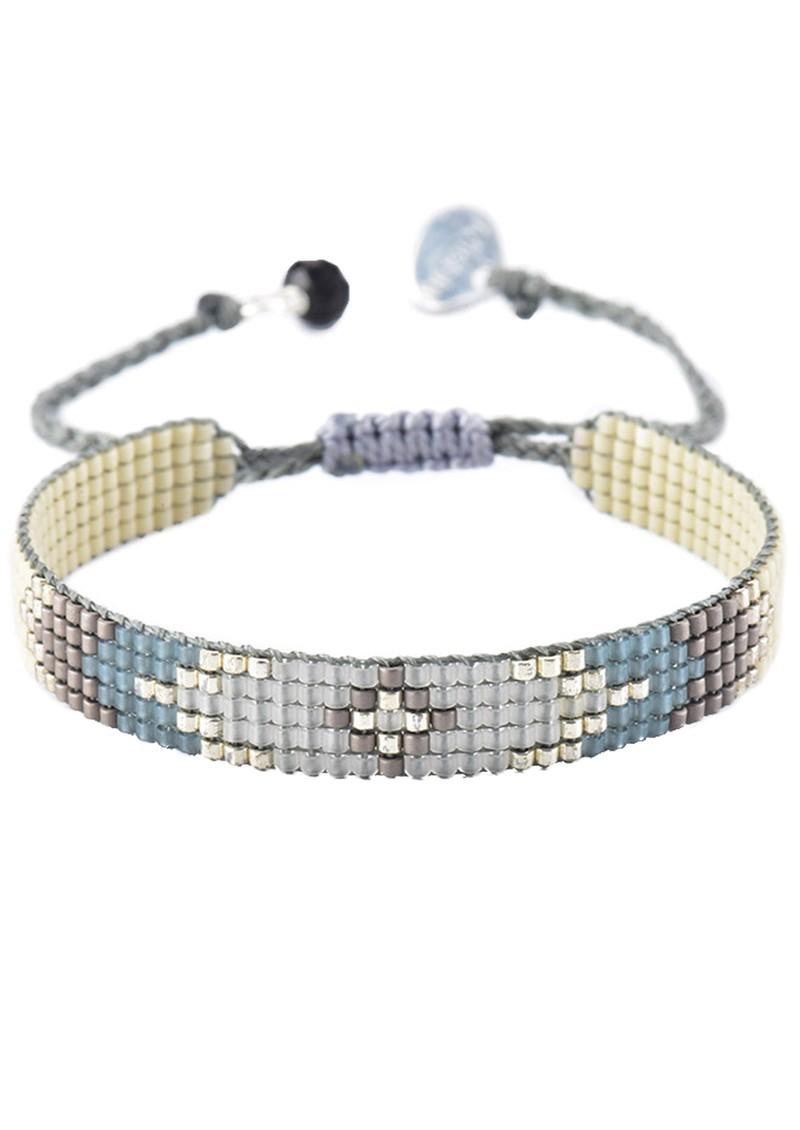 MISHKY Peeky Narrow Bracelet - Blue & Grey main image