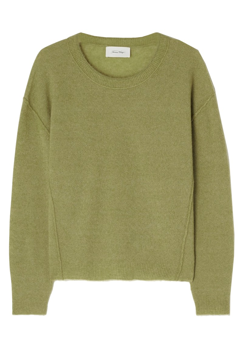 Razpark Wool Mix Jumper - Moss Melange main image
