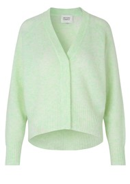 SECOND FEMALE Brook Boxy Knitted Cardigan - Clearly Aqua
