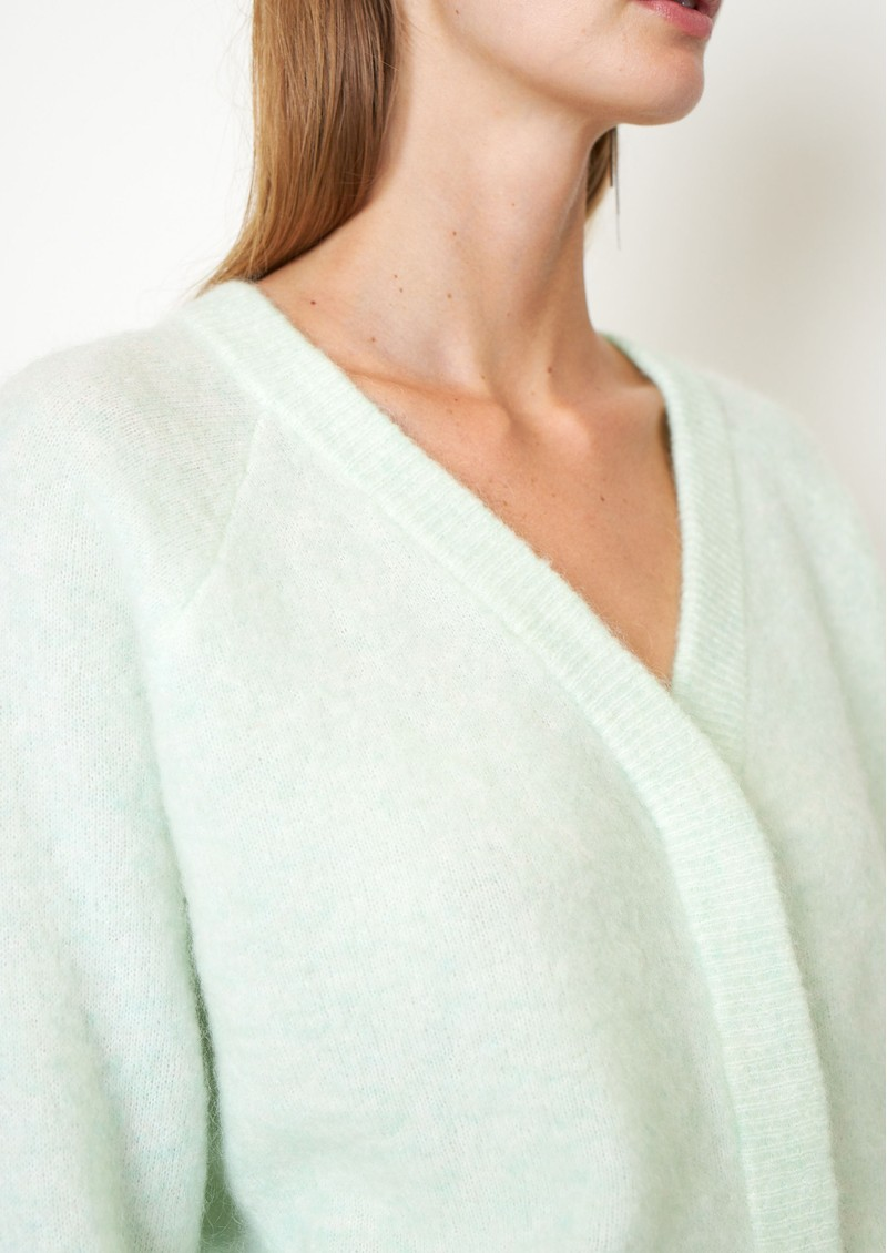 SECOND FEMALE Brook Boxy Knitted Cardigan - Clearly Aqua main image