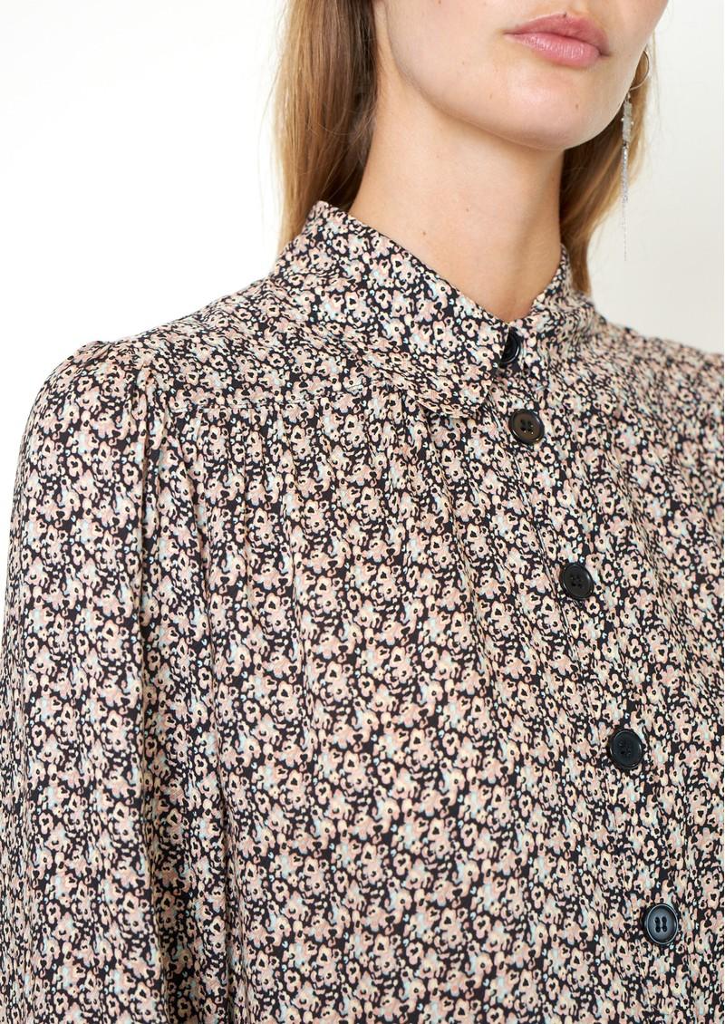 SECOND FEMALE Frank Printed Shirt - Black main image