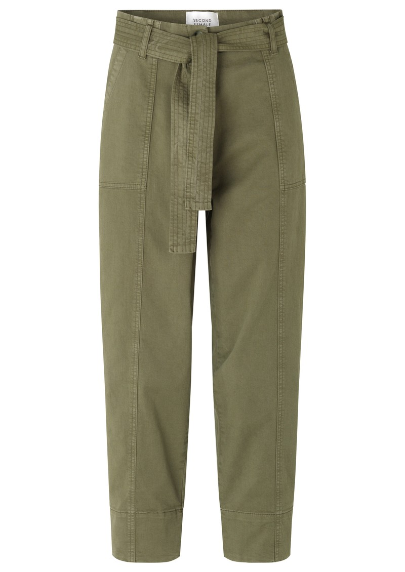 SECOND FEMALE Terry Utility Trousers - Olive Night main image