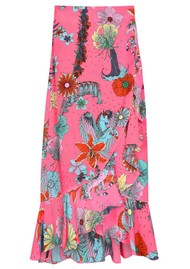 STARDUST Mia Wrap Skirt - Neon Pink Floral