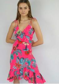 STARDUST Sassafrass Midi Dress - Neon Pink Floral