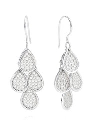 ANNA BECK Classic Beaded Chandelier Earrings - Silver