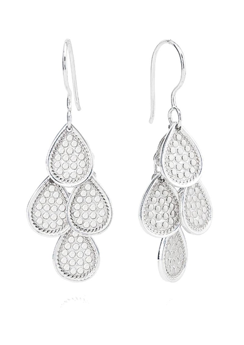 ANNA BECK Classic Beaded Chandelier Earrings - Silver main image