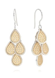 ANNA BECK Classic Beaded Chandelier Earrings - Gold