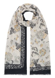 Lily and Lionel Curious Zebra Cashmere Blend Scarf - Multi