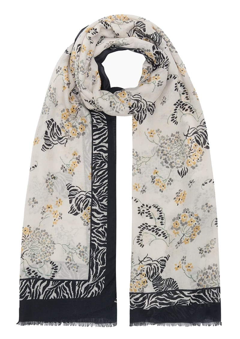 Lily and Lionel Curious Zebra Cashmere Blend Scarf - Multi main image