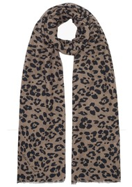 Lily and Lionel Floral Leopard Silk & Wool Blend Scarf - Parchment