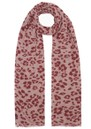 Floral Leopard Silk & Wool Blend Scarf - Rose additional image