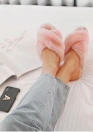 EMU Mayberry Crossover Sheepskin Slipper Slide - Baby Pink