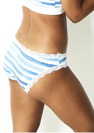 STRIPE & STARE Single Brief - Blue Stripe