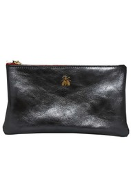 Sous Les Paves Tsutsuki Bee Leather Clutch Bag - Blue