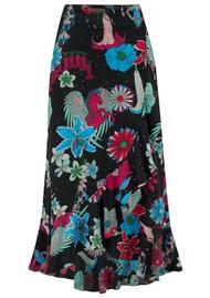 STARDUST Mia Wrap Skirt - Black Floral