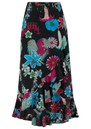 Mia Wrap Skirt - Black Floral additional image