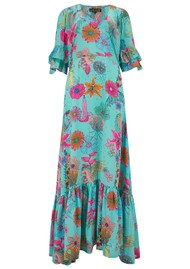 STARDUST Coco Maxi Dress - Teal Floral
