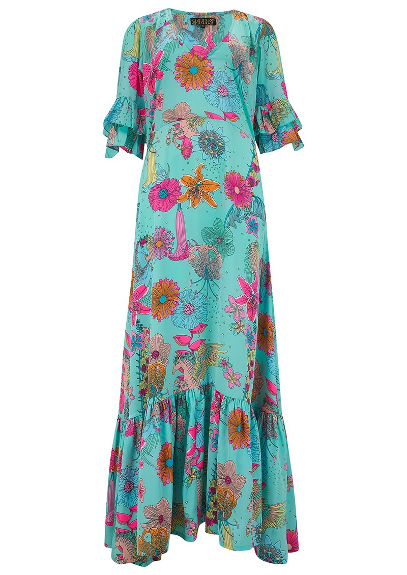 STARDUST Coco Maxi Dress - Teal Floral main image