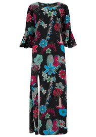 STARDUST Jacky Maxi Dress - Black Floral