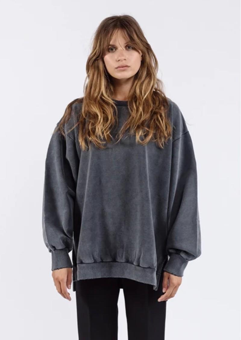 AME ANTWERP Ulla Oversized Sweatshirt - Charcoal main image